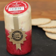 raspberry infused cranberries arran cheese
