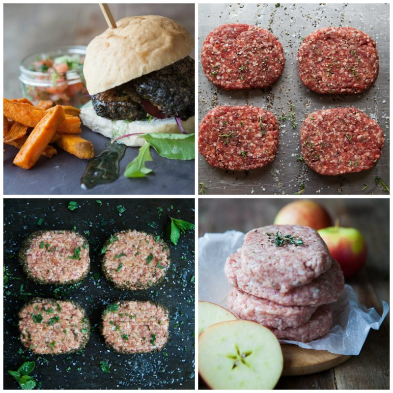 burgers collage