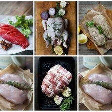 chicken hamper collage